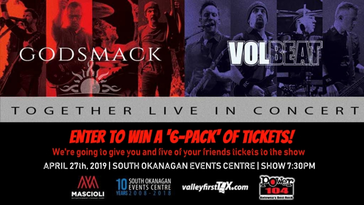 Win A 6-Pack To Volbeat & Godsmack   POWER 104 FM
